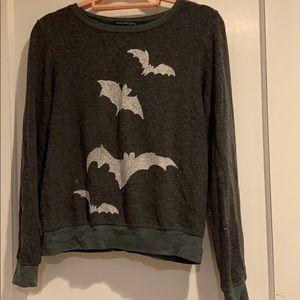 """Wildfox Grey """"Bats"""" Sweatshirt"""